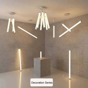 Pendant Light LED Hanging Light Suspended Cylinder Ceiling Light Aluminium LED Light