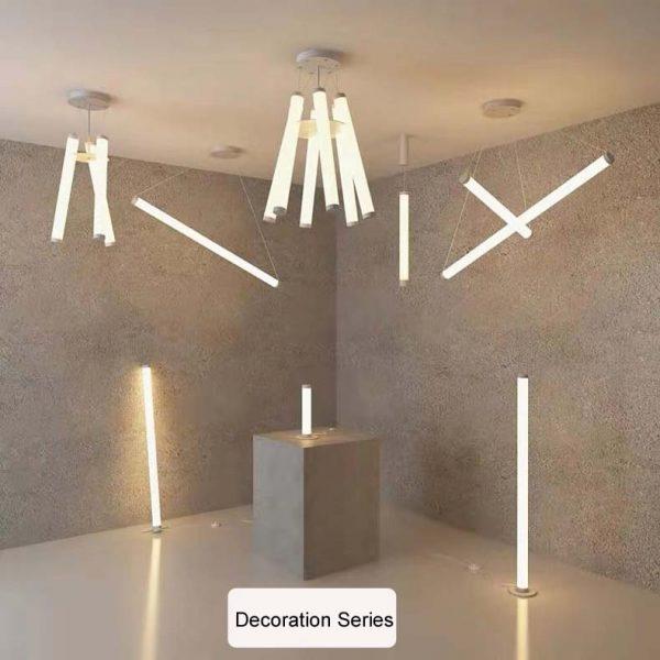 Pendant Light LED Hanging Light Suspended Cylinder Ceiling Light Aluminium LED Light