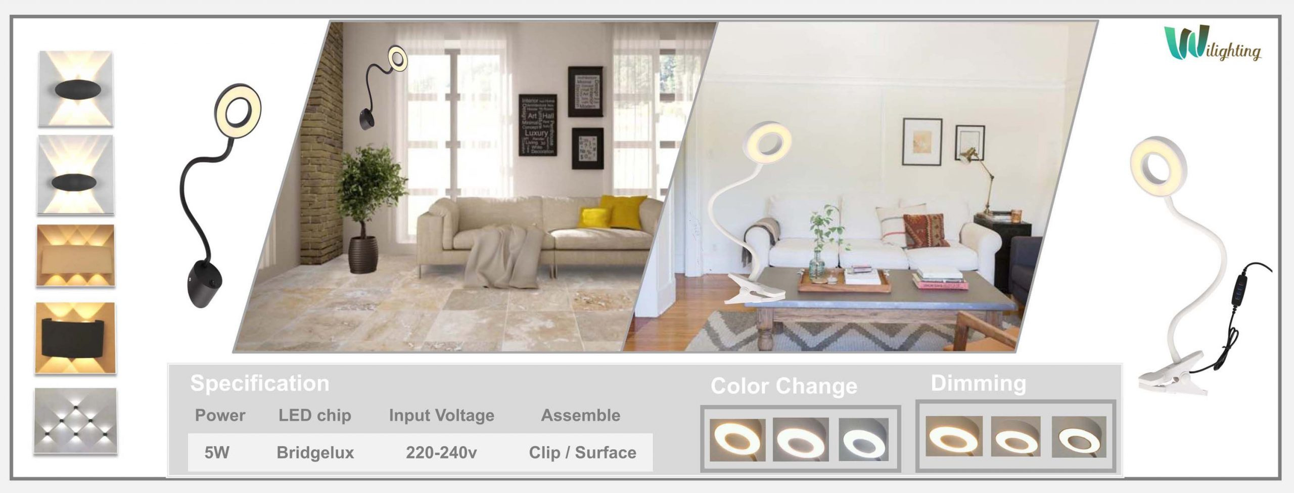 LED Wall Sconces-FlexibleWall Light Fixture Indoor